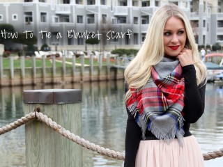 How To Tie A Square Blanket Scarf 2