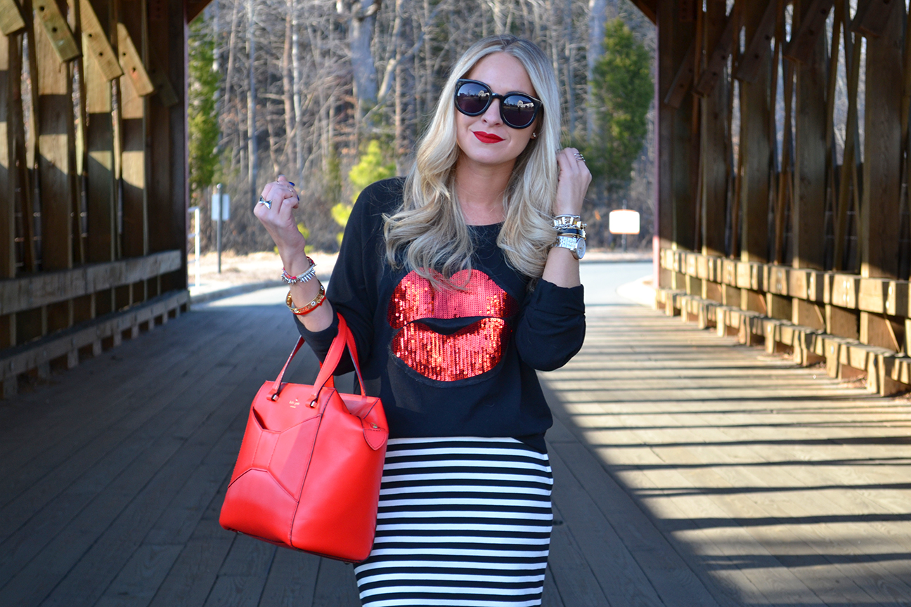 Kate Spade Beau Bag and Lips Sweater