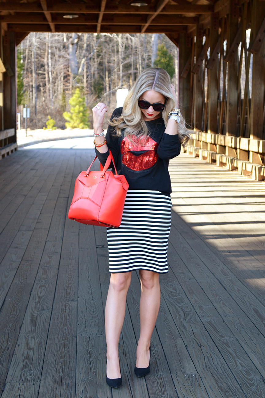 Red Kate Spade Beau Bag