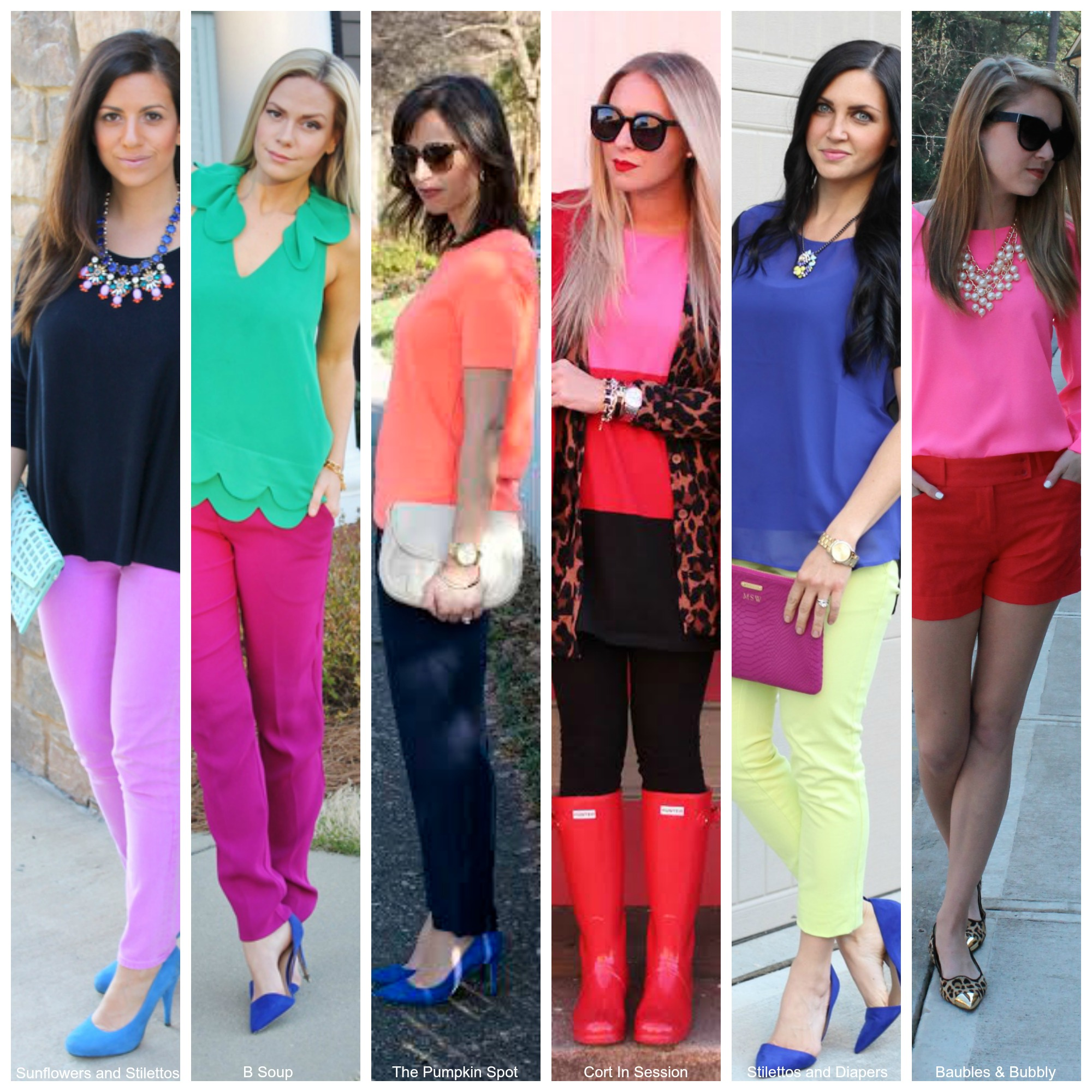 Colorblocking Collage - Charlotte Bloggers