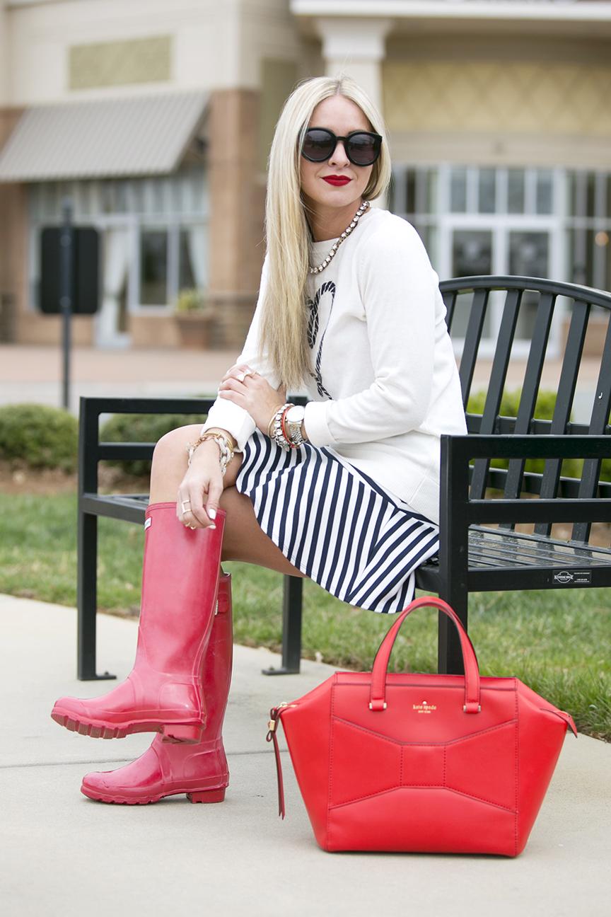Red Kate Spade Beau Bag