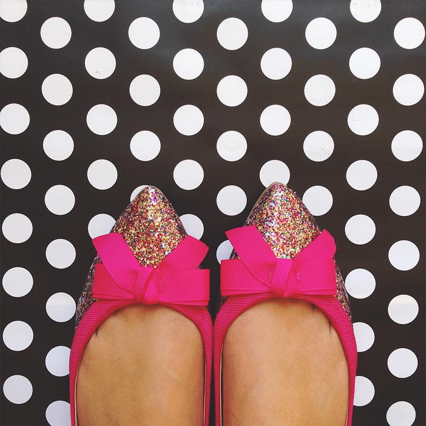 Just Fab Glitter Mirelle Flat