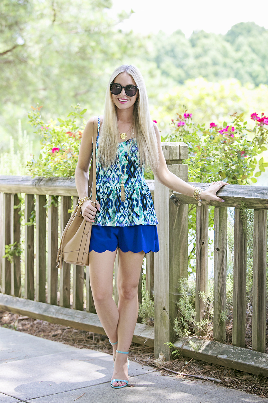 Blue Scallop Shorts