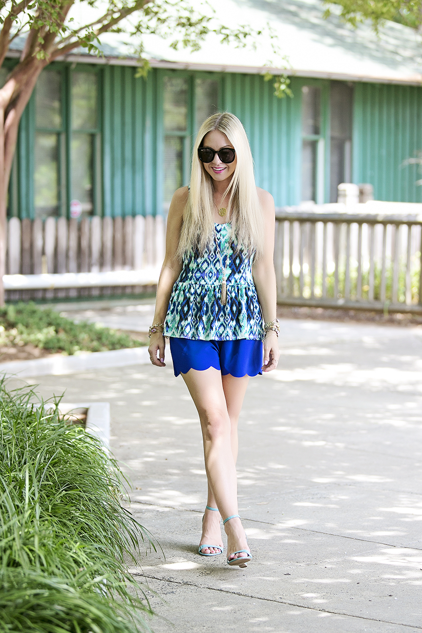 Blue Scallop Shorts