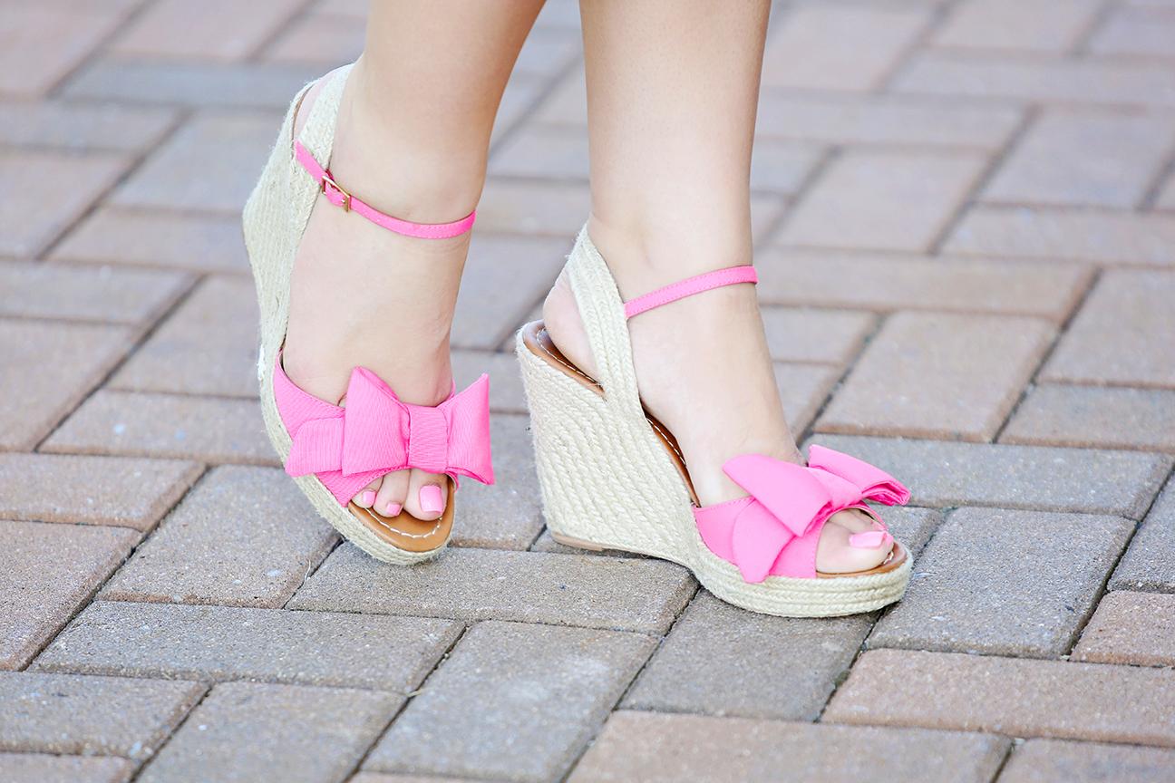 pink kate spade jumper wedges