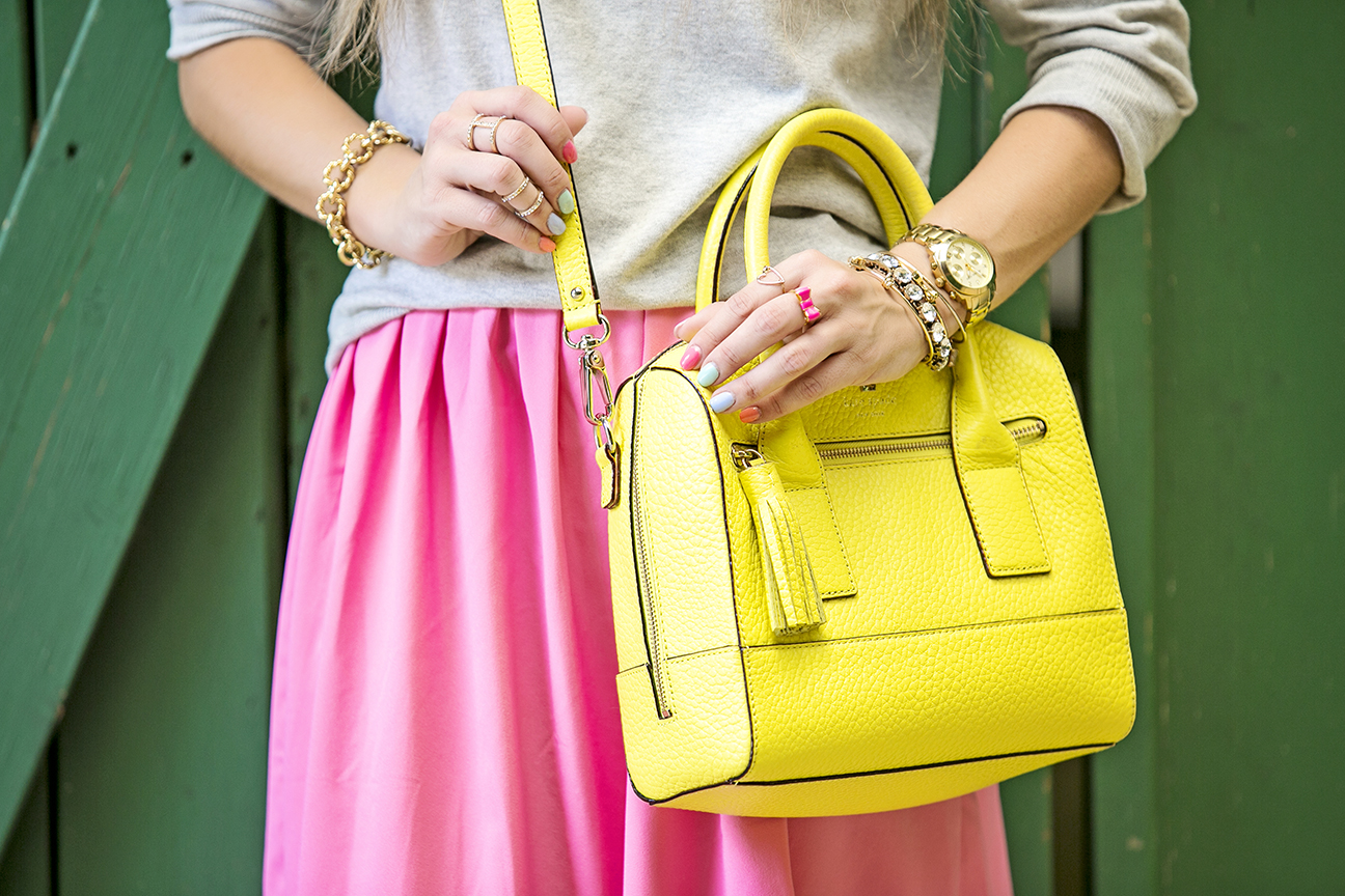 yellow kate spade bag