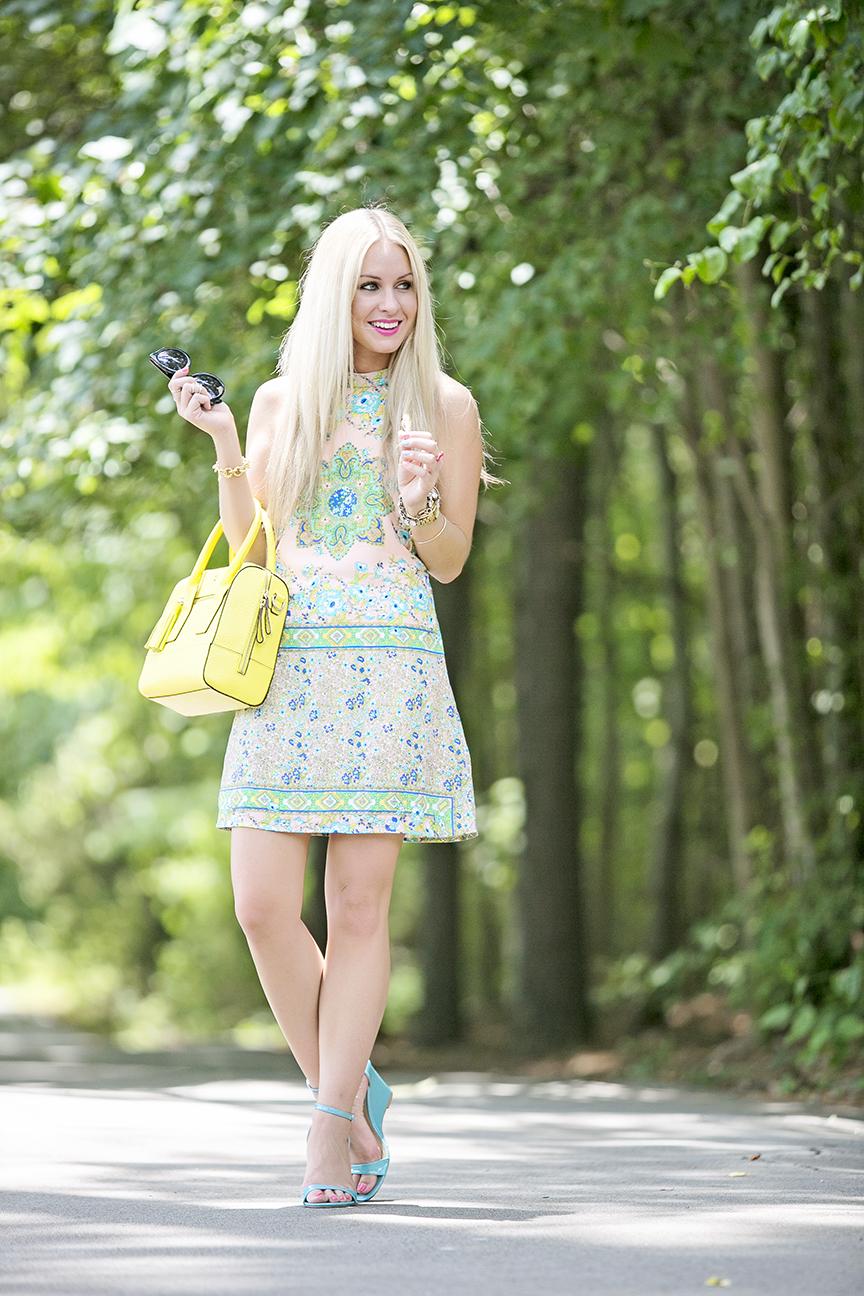 Yellow Kate Sapde Tassel Bag