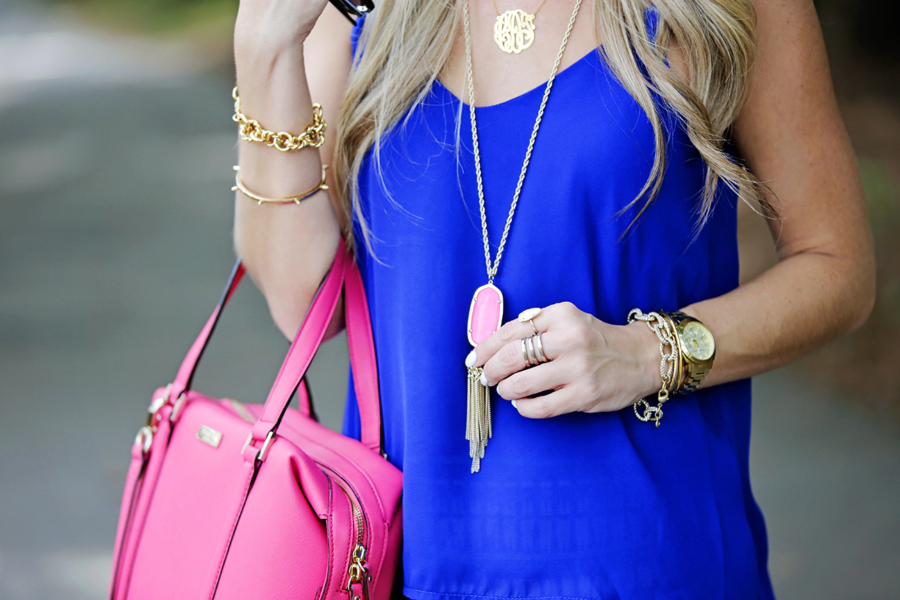 Neon Pink Kendra Scott Rayne Necklace