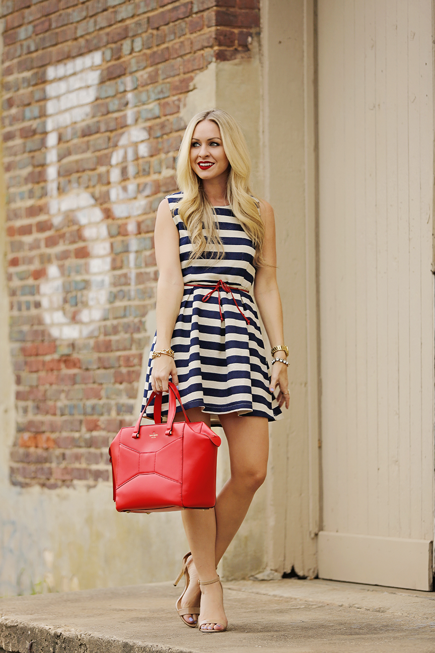 Nautical Skater Dress