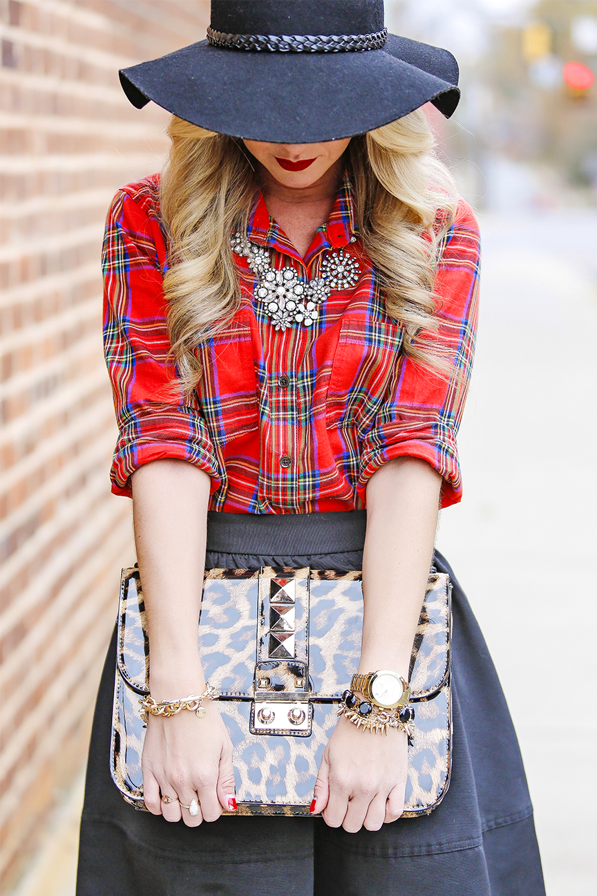 leopard studded bag