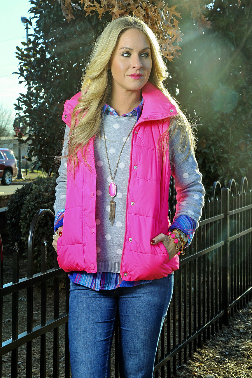 Pink Puffer Vest
