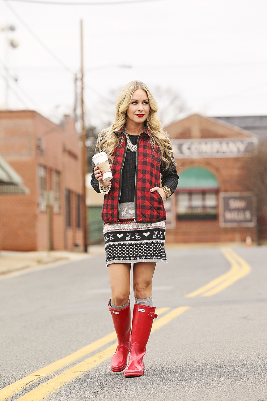 Vest and Fair Isle Skirt