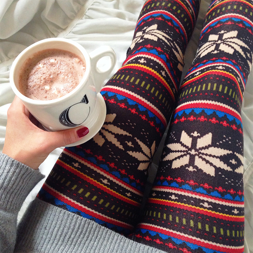 aztec winter leggings