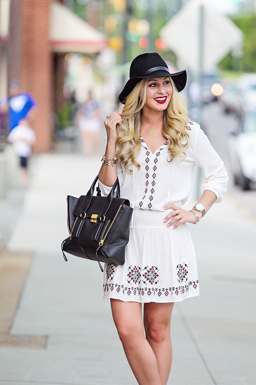 white forever 21 peasant dress