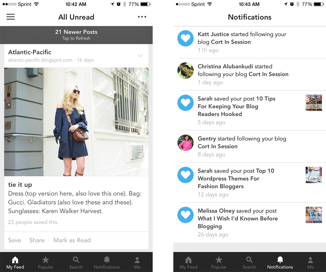bloglovin app for iphone