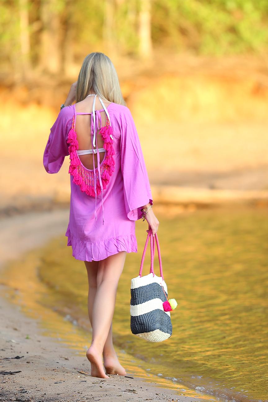 Tassel bathing suit coverup