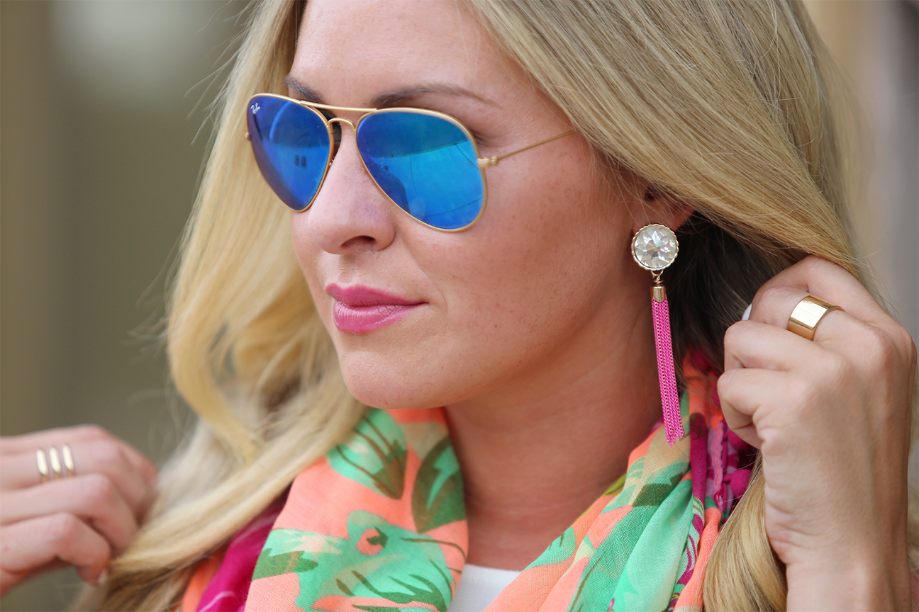 ray ban aviators tassel earrings