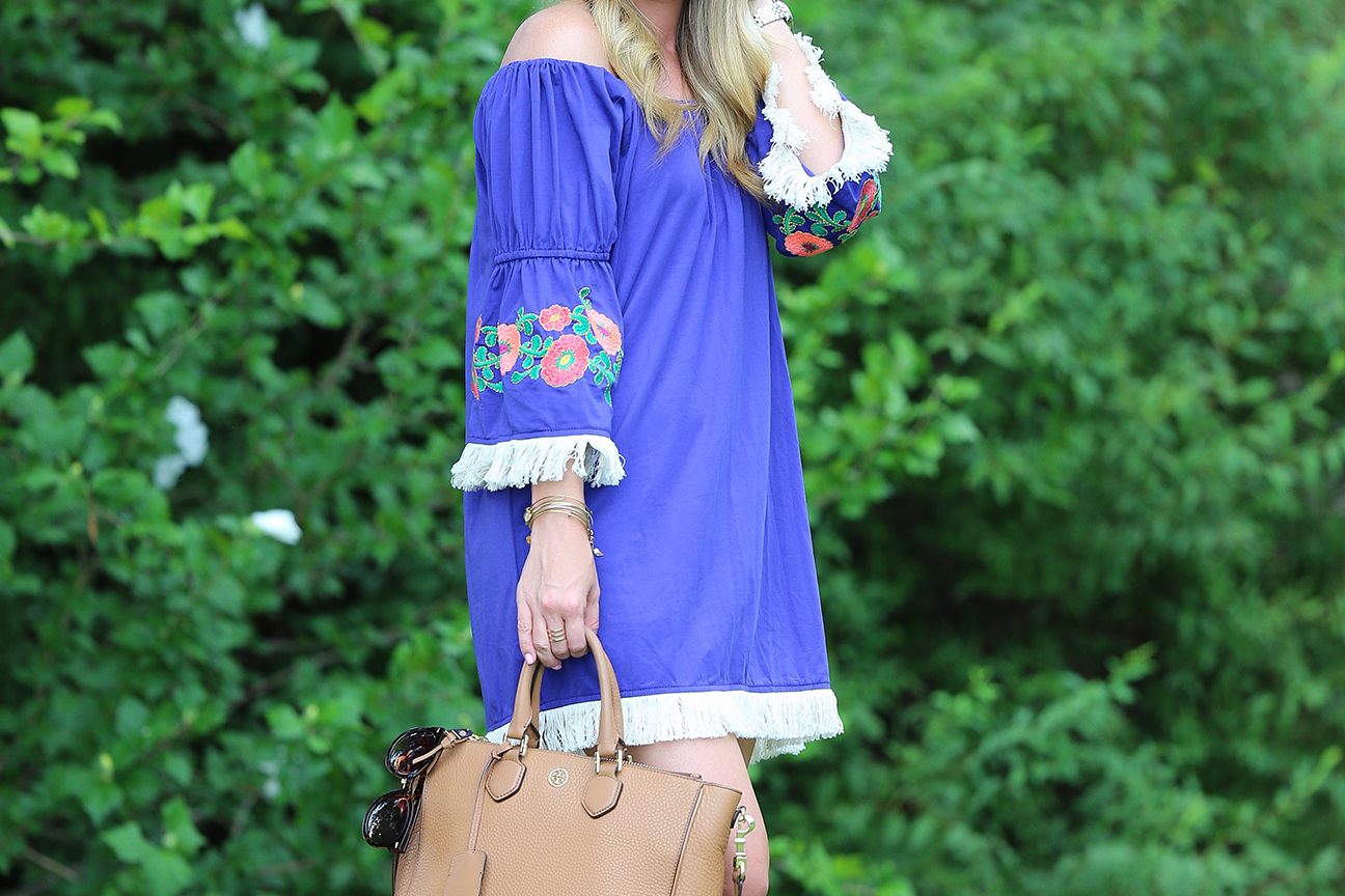 Blue Peasant Dress 7