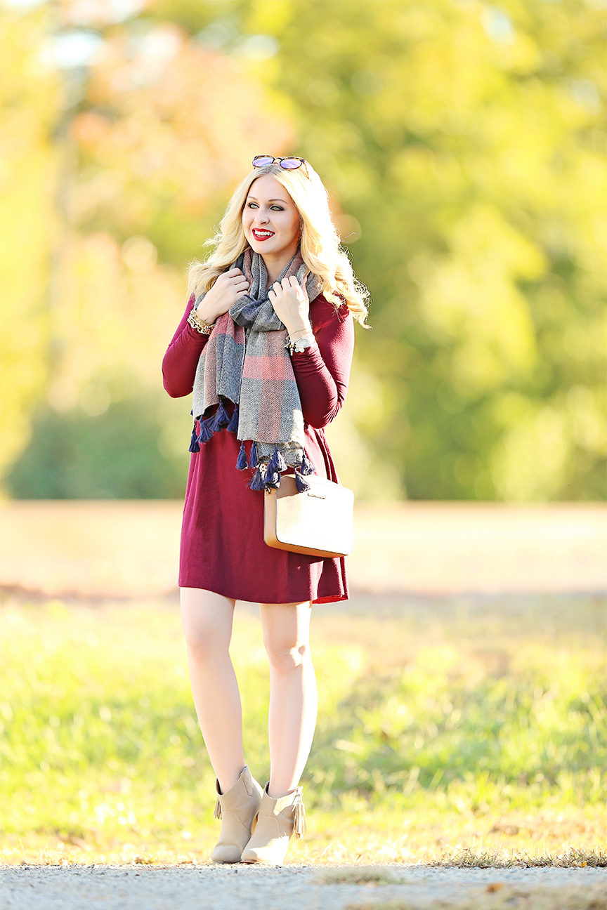 swing dress with sleeves