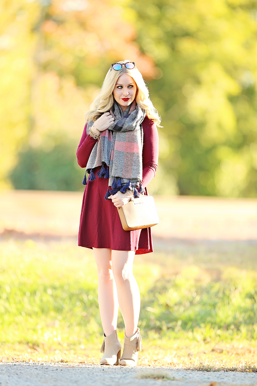 swing dress with booties