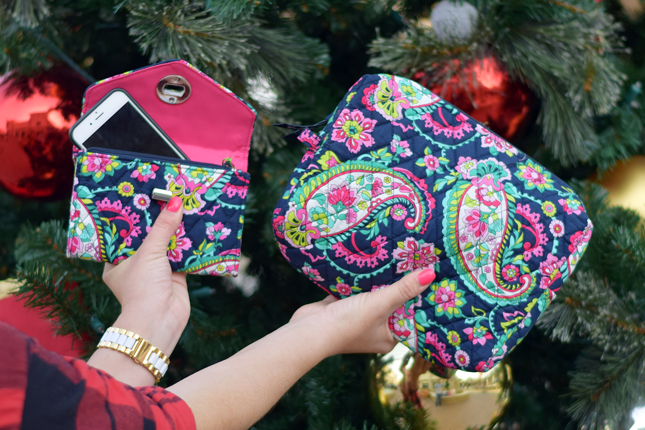 Vera Bradley iPhone Wallet and Cosmetics Bag