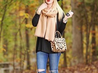 Tan Blanket Scarf 3