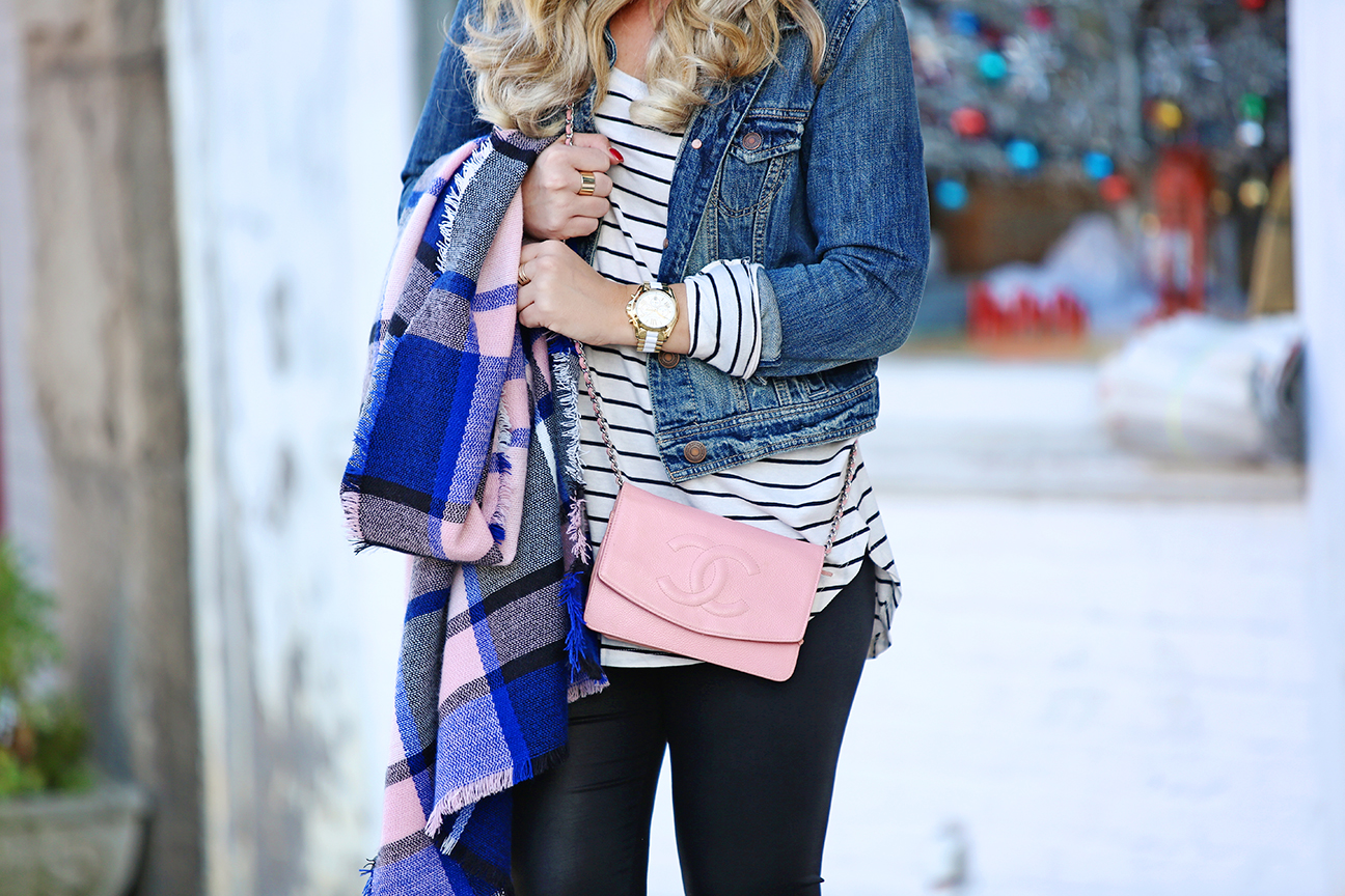 Pink Quilted Chanel Chain Bag