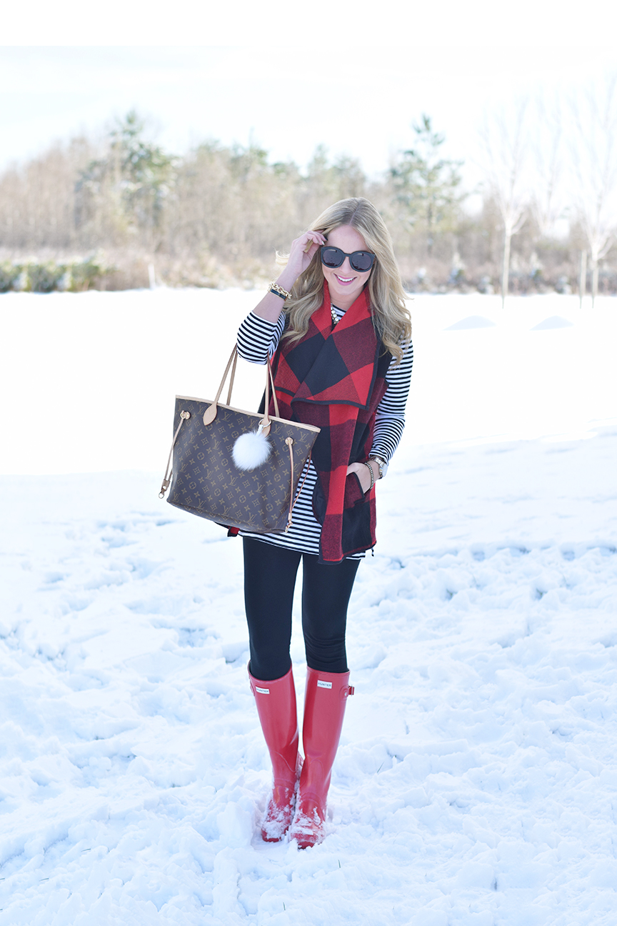 Red Hunter Boots Outfit