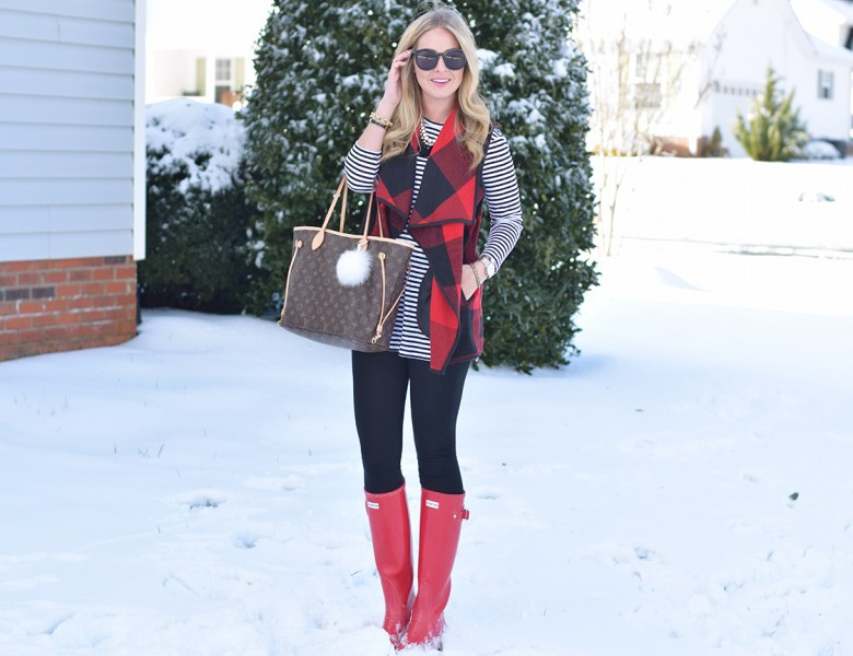 Red Hunter Boots 6