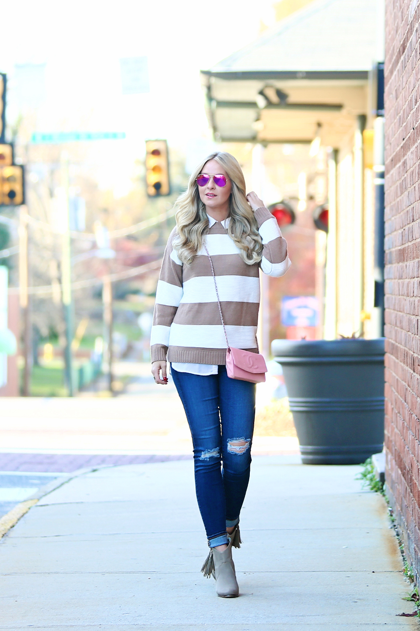 preppy layered outfit inspiration