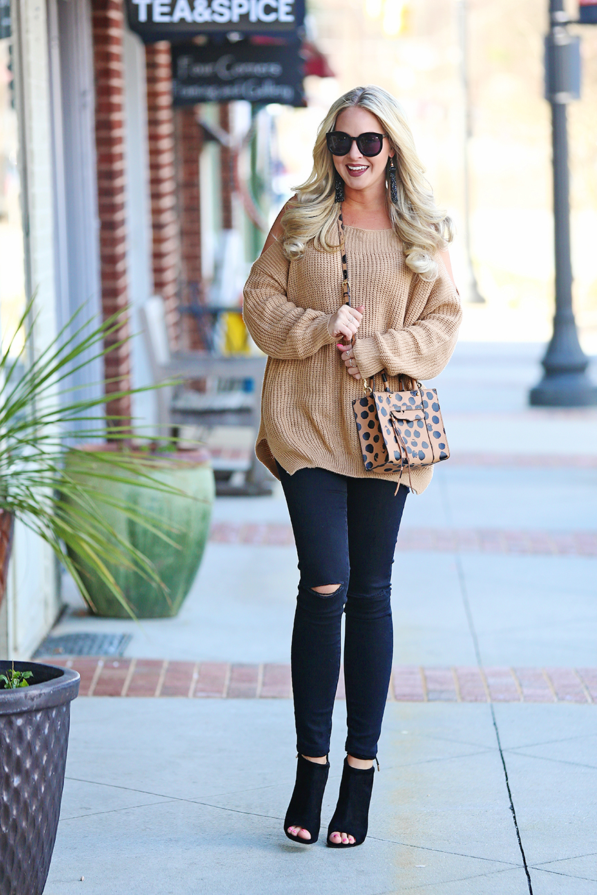 cognac tan sweater