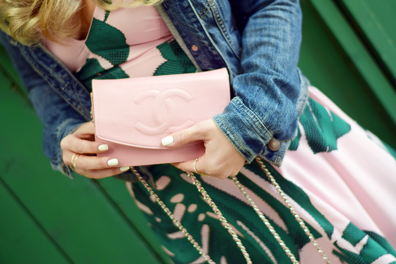 Pink Chanel Crossbody Chain Bag