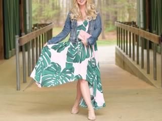 Palm Leaf Dress 3