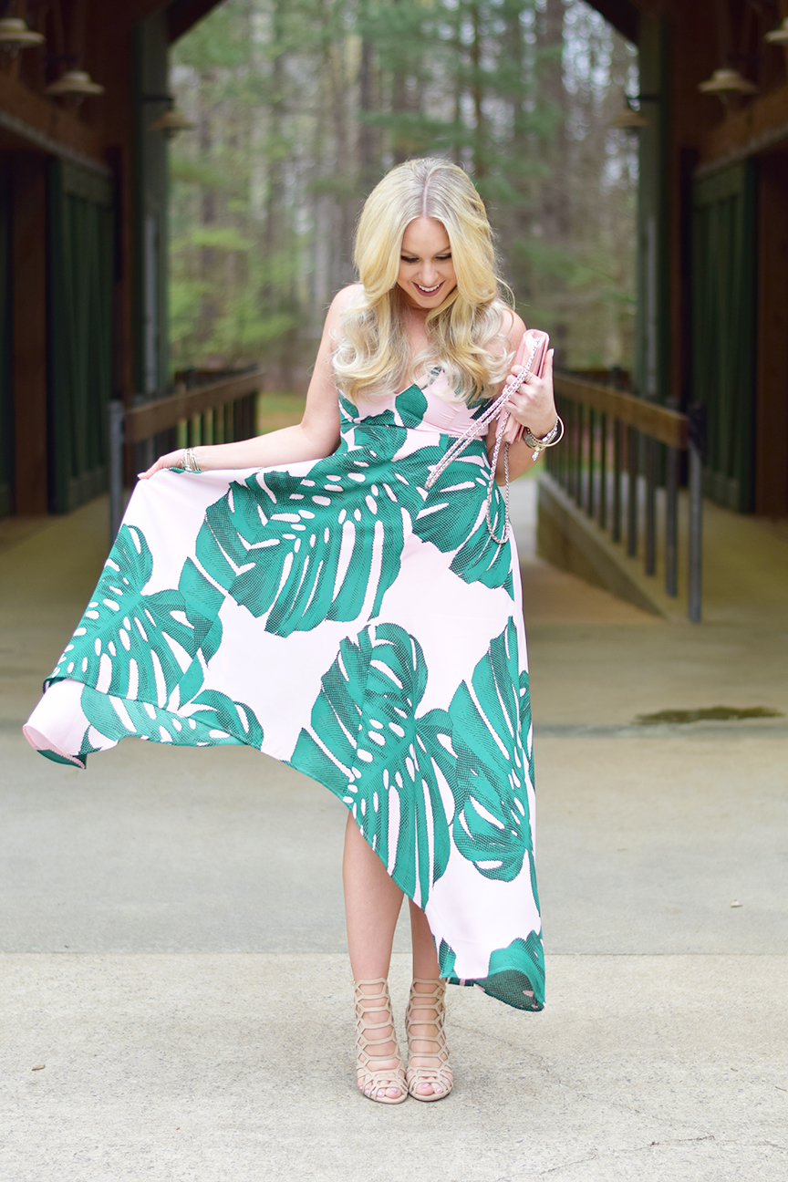 Banana Leaf Print Dress