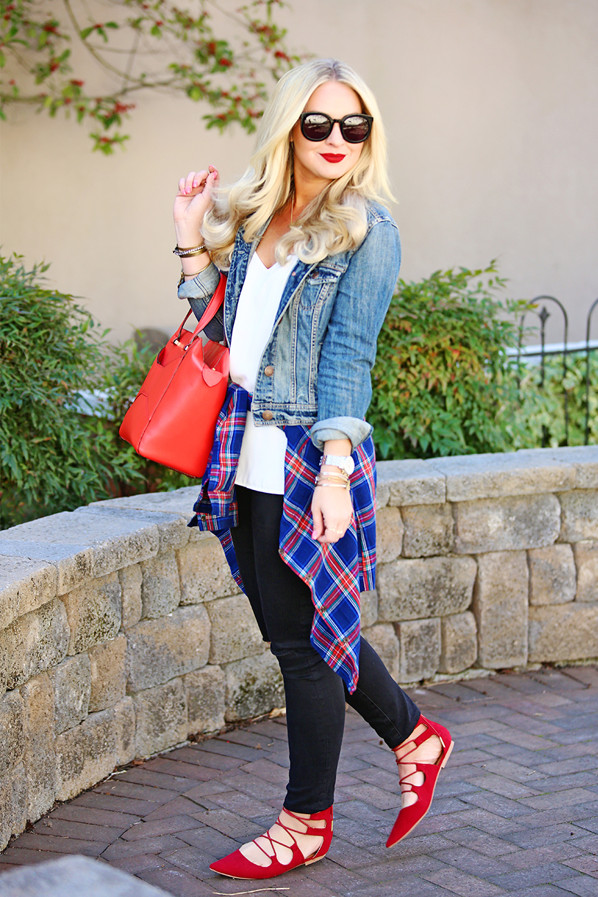 How to Wear Plaid in the Spring