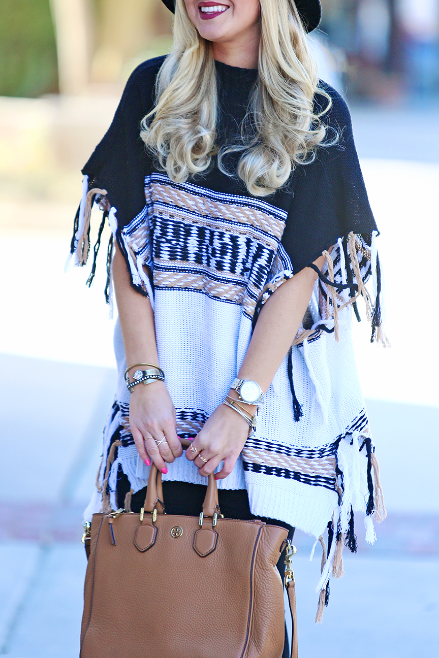 ROMWE and SheIn Tassel Poncho