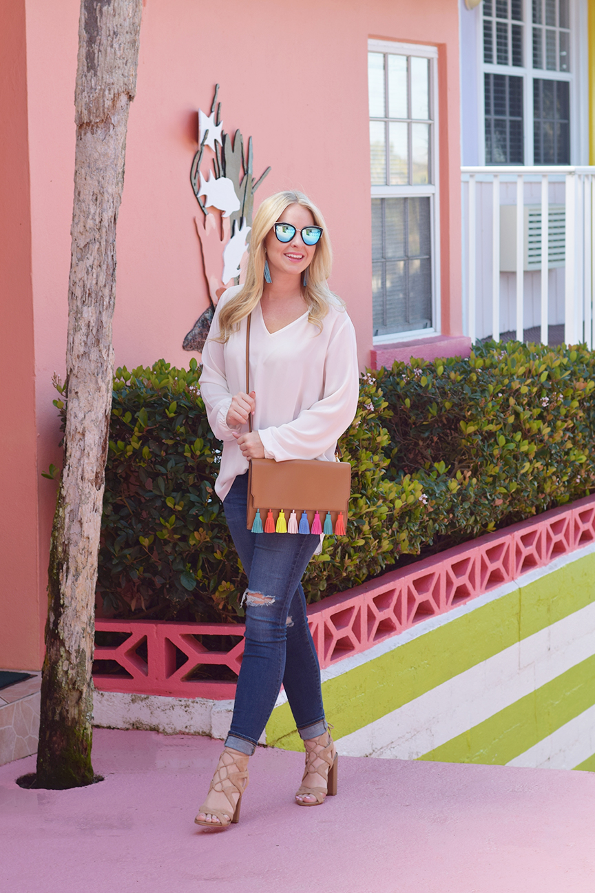 Quay Cat Eye Sunglasses and Sam Edelman Yardley Heels