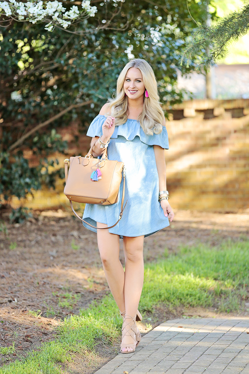 Chambray OTS Dress 1