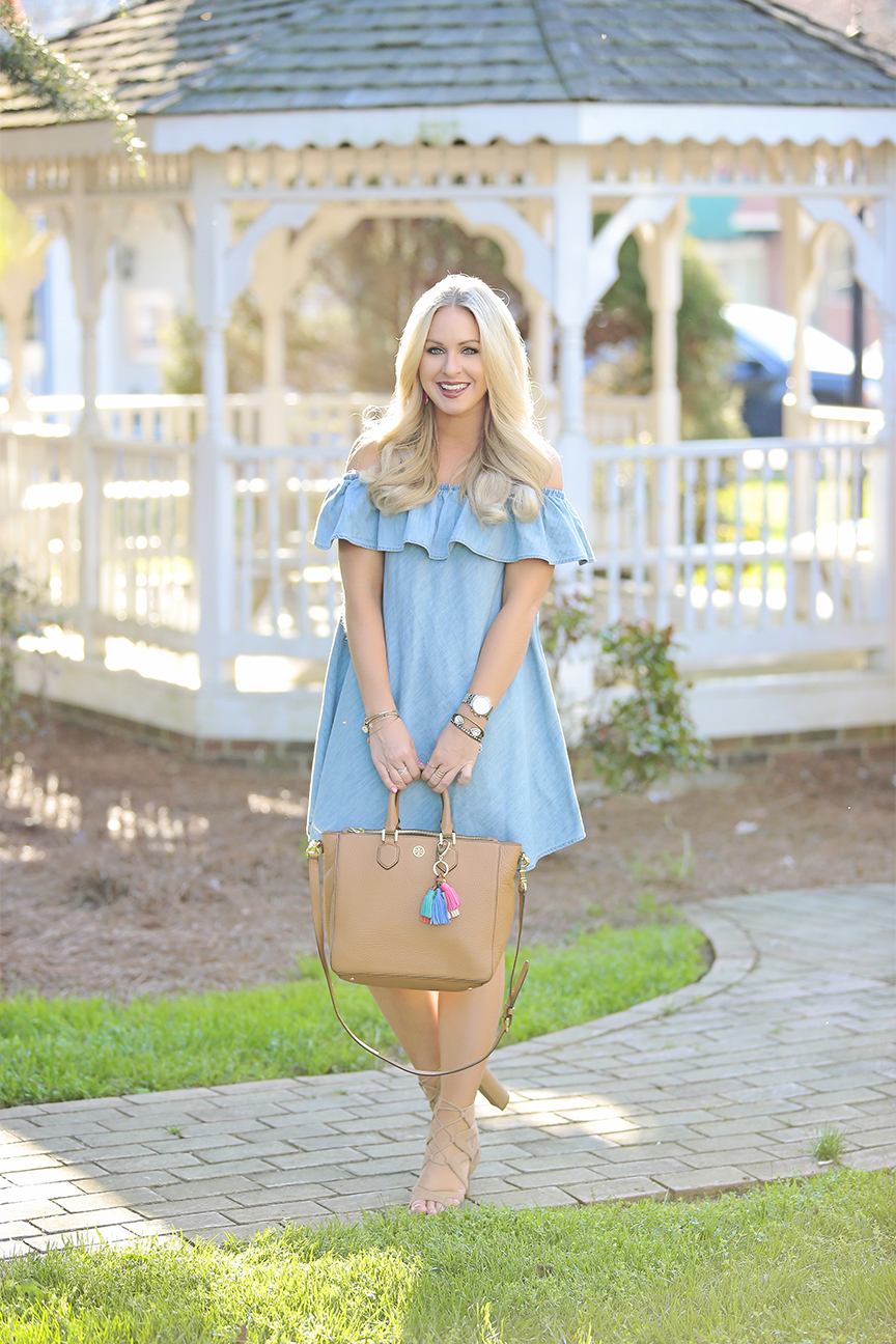 Chambray OTS Dress 2