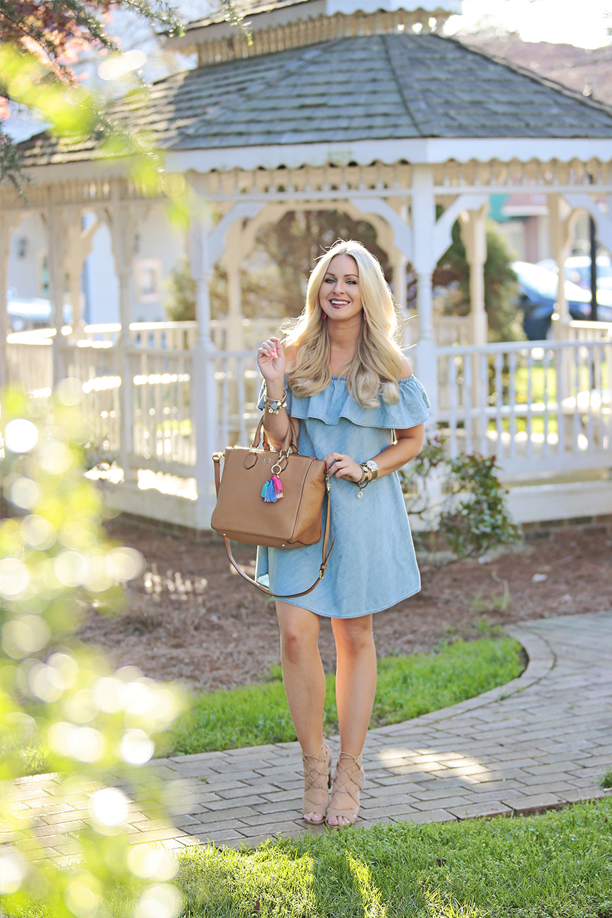 Chambray OTS Dress 3
