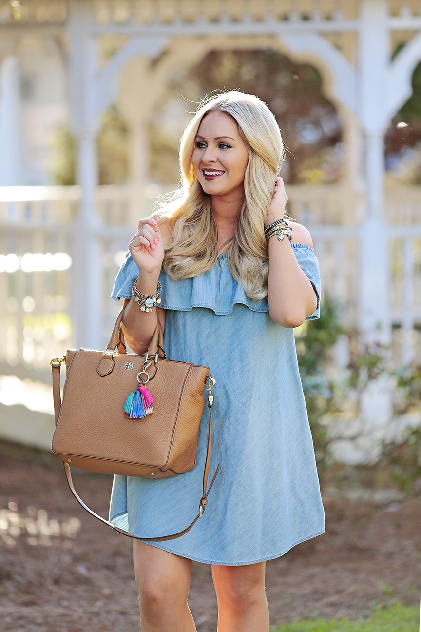 Chambray OTS Dress 4