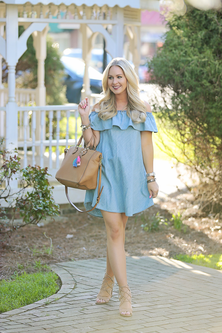 Chambray OTS Dress 5
