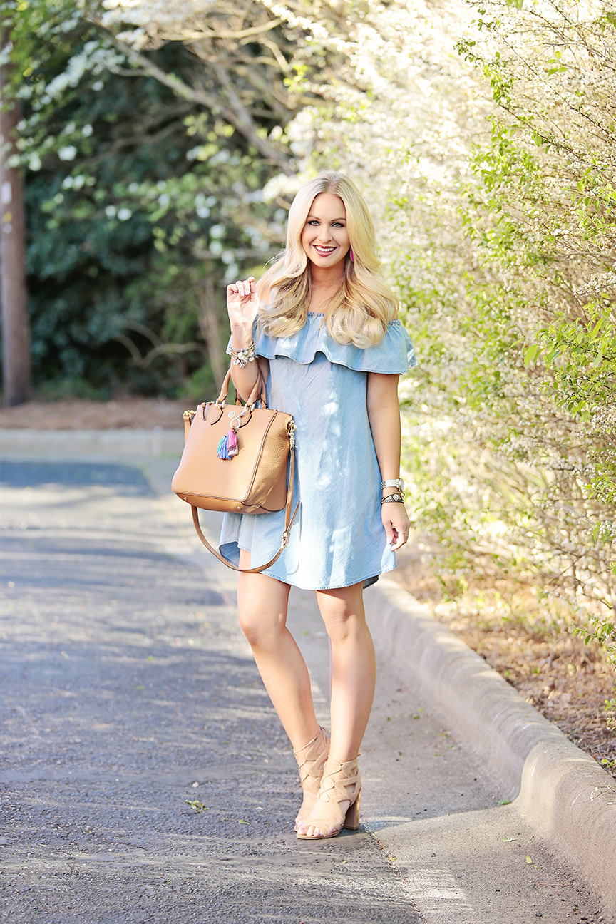 Chambray OTS Dress 8