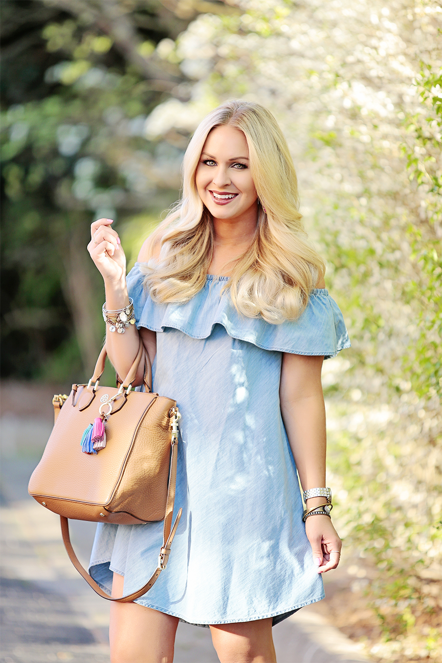 Chambray OTS Dress 9