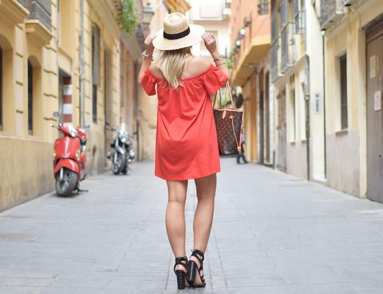 Red OTS Dress 5
