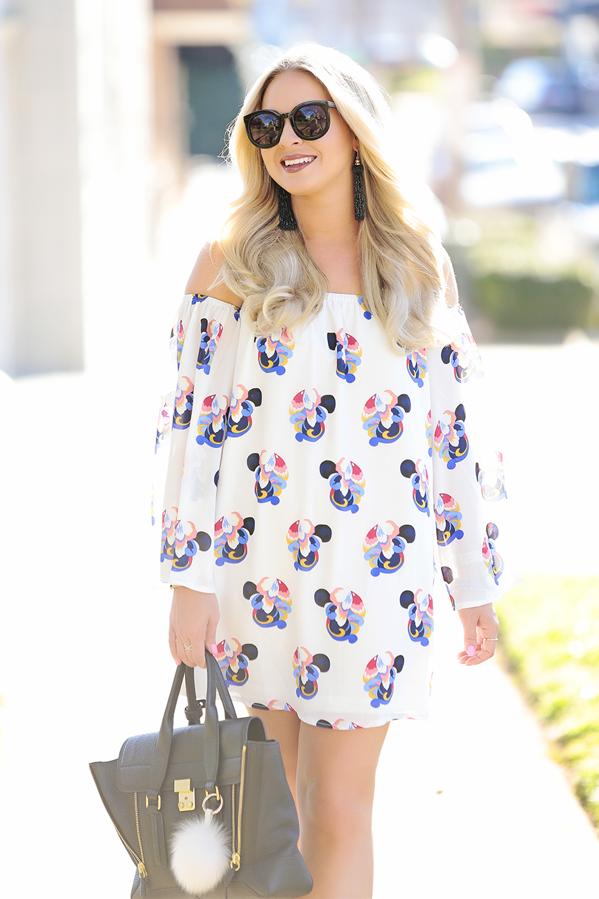 White Off the Shoulder Dress 1