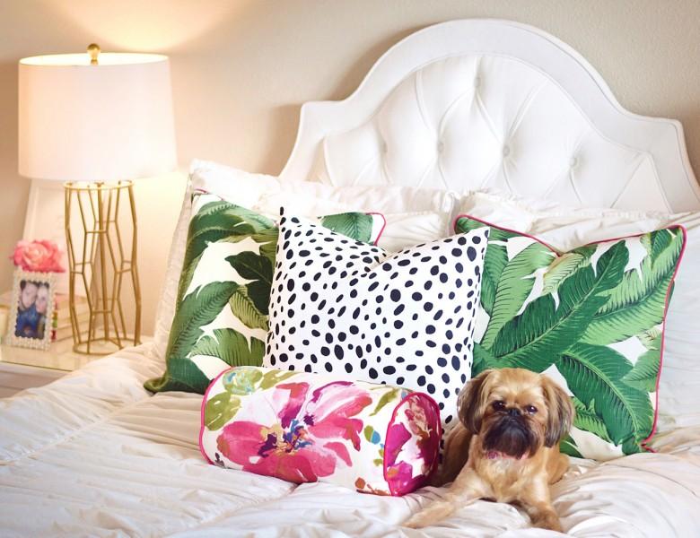 Palm Leaf and Dalmation Print Pillows