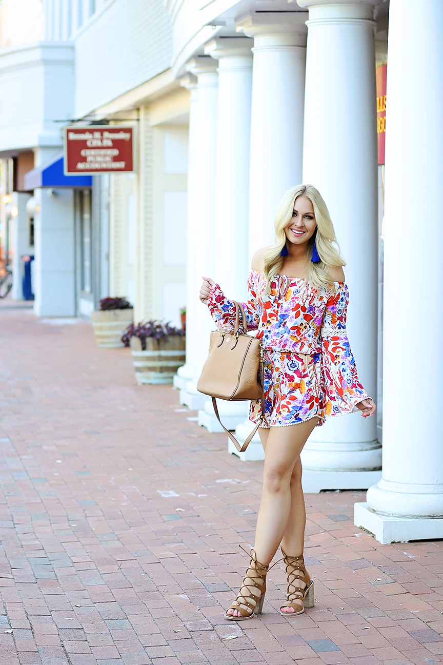 sun and shadow romper from nordstrom