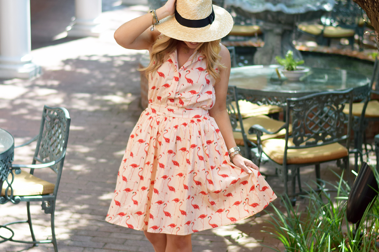 Chicwish Flamingo Dress 3