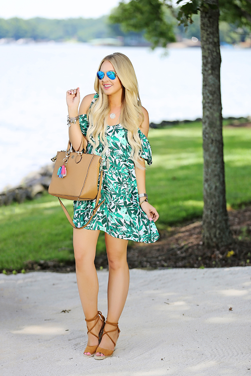 Leaf Print Dress 1